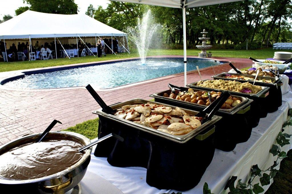 Backyard Wedding BBQ Buffet! Perfect For A Summer Wedding