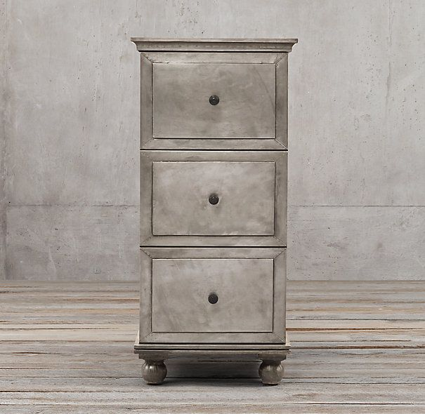 Annecy Metal Wred 3 Drawer Narrow File Cabinet