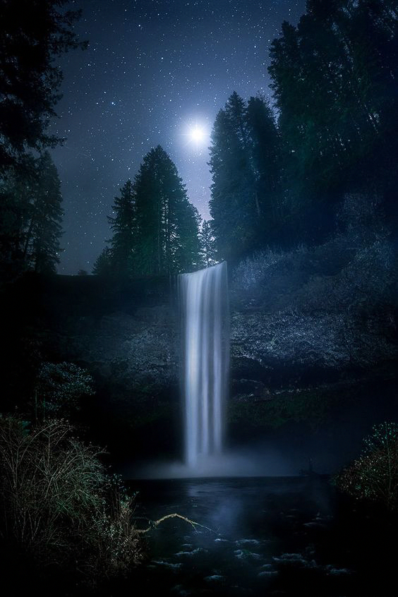 59 Amazing Mysterious Waterfall Landscapes Waterfall Natural Landscape Water Resources Famou In 2020 Waterfall Landscape Waterfall Photography Night Sky Photography