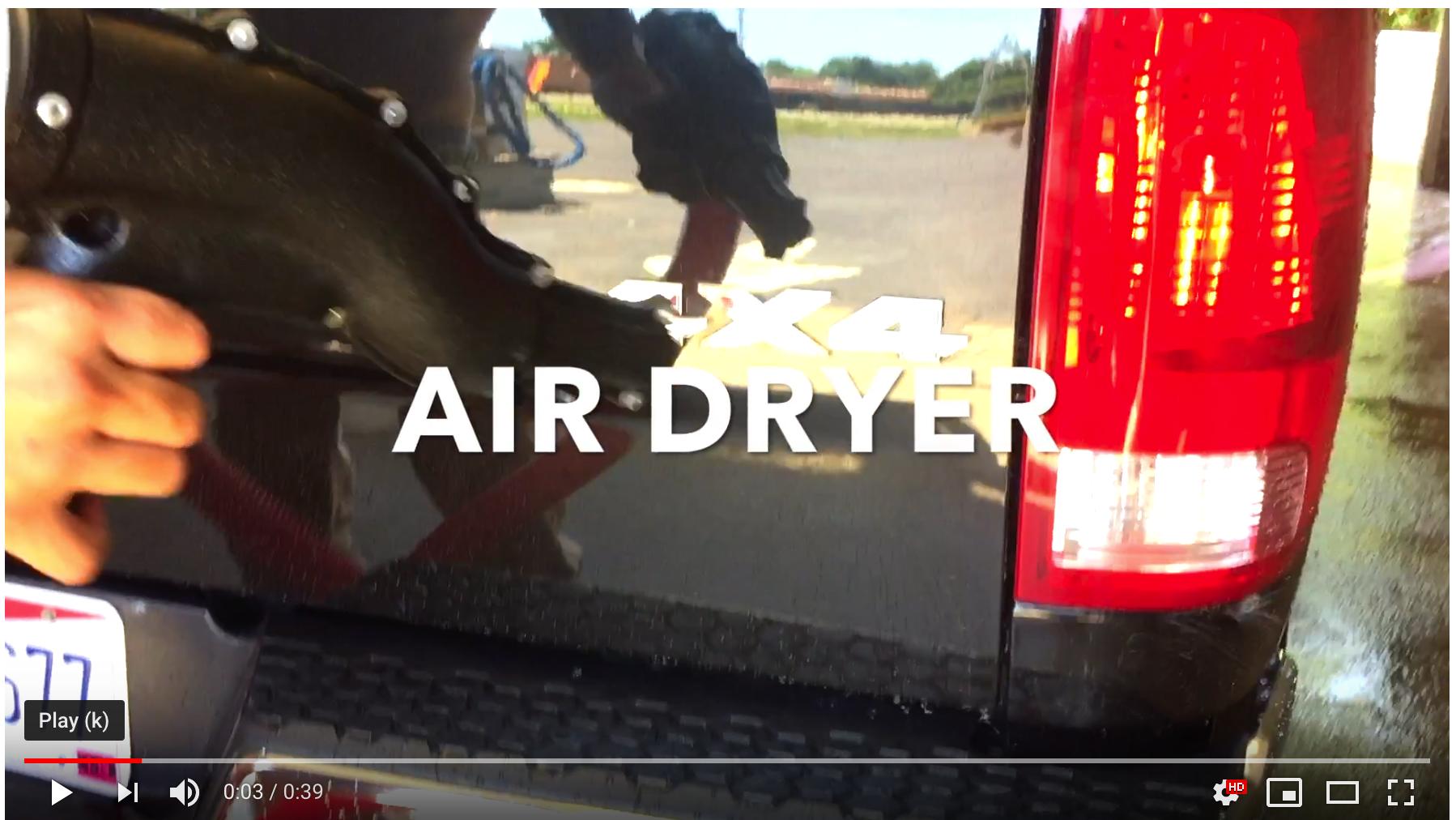 The Super Air Shammee air dryer at Our Town Auto Wash | Car