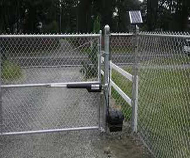 Electric Security Gate Chain Link Fence Gate Chain Link Fence Garden Gates And Fencing