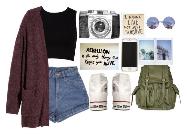 """""""Adventure"""" by born2fashion ❤ liked on Polyvore featuring Forever 21, H&M, Converse and Topshop"""