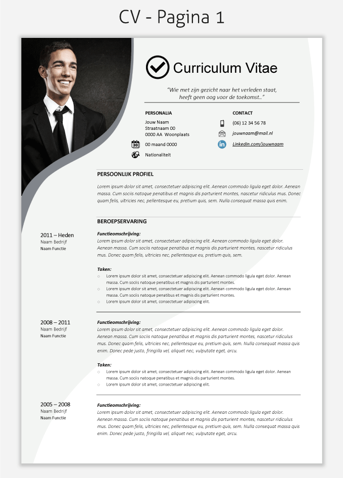 CV template 222 om te downloaden | CV & Portfolio Design