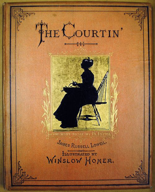 The Courtin' by Amherst College Archives on Flickr.  The Courtin' by James Russell Lowell. Cover illustration by Winslow Homer.