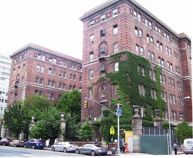 The original Bellevue Psychiatric Hospital building on