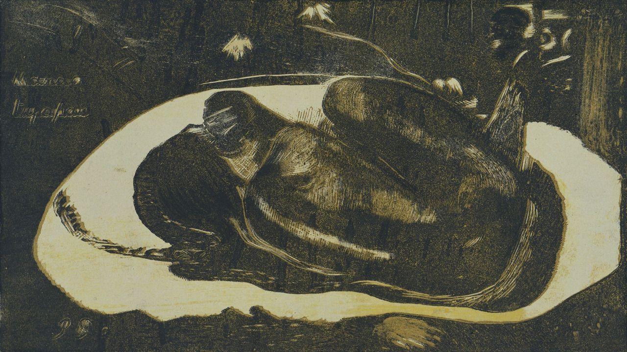 Paul Gauguin, Louis Roy. Lying Girl Afraid of Spirits of the Dead. 1894.