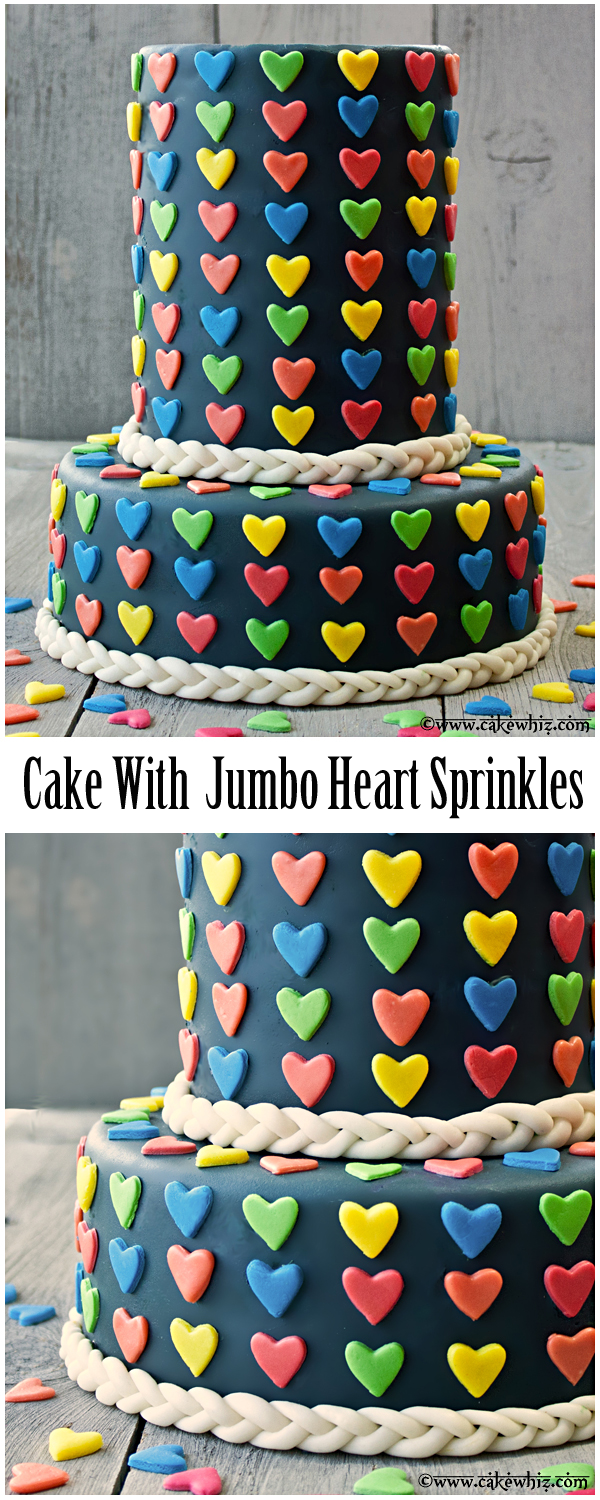 Jumbo Taarten Cake With Homemade Jumbo Heart Sprinkles With Full Instructions