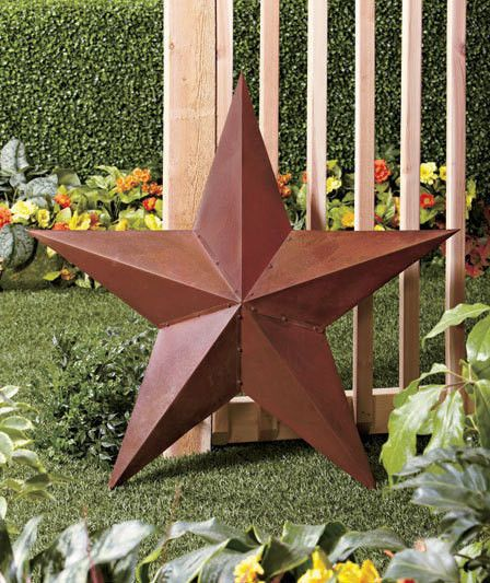 "Texas Star Wall Decor large 36"" rustic texas barn star primitive metal tin wall decor"