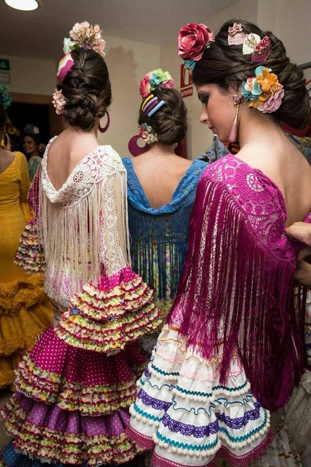 еще фото причесок для фламенко образом