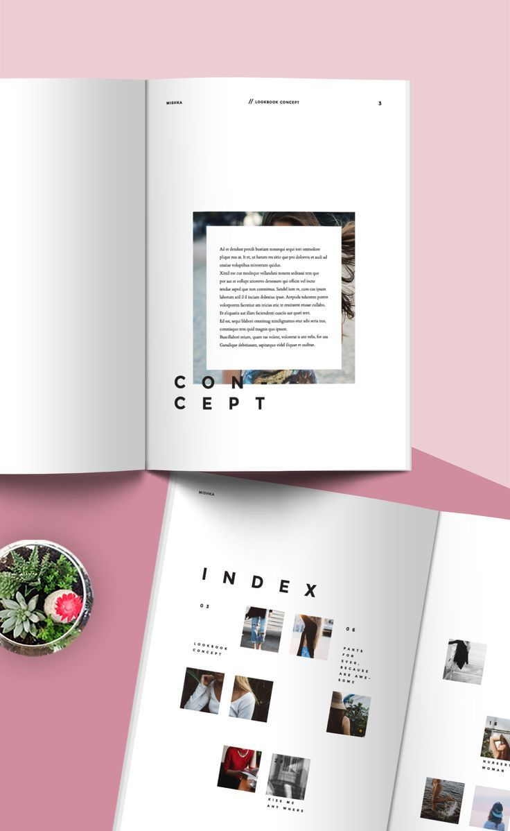 Fashion Lookbook Template Minimal Style Layout Design