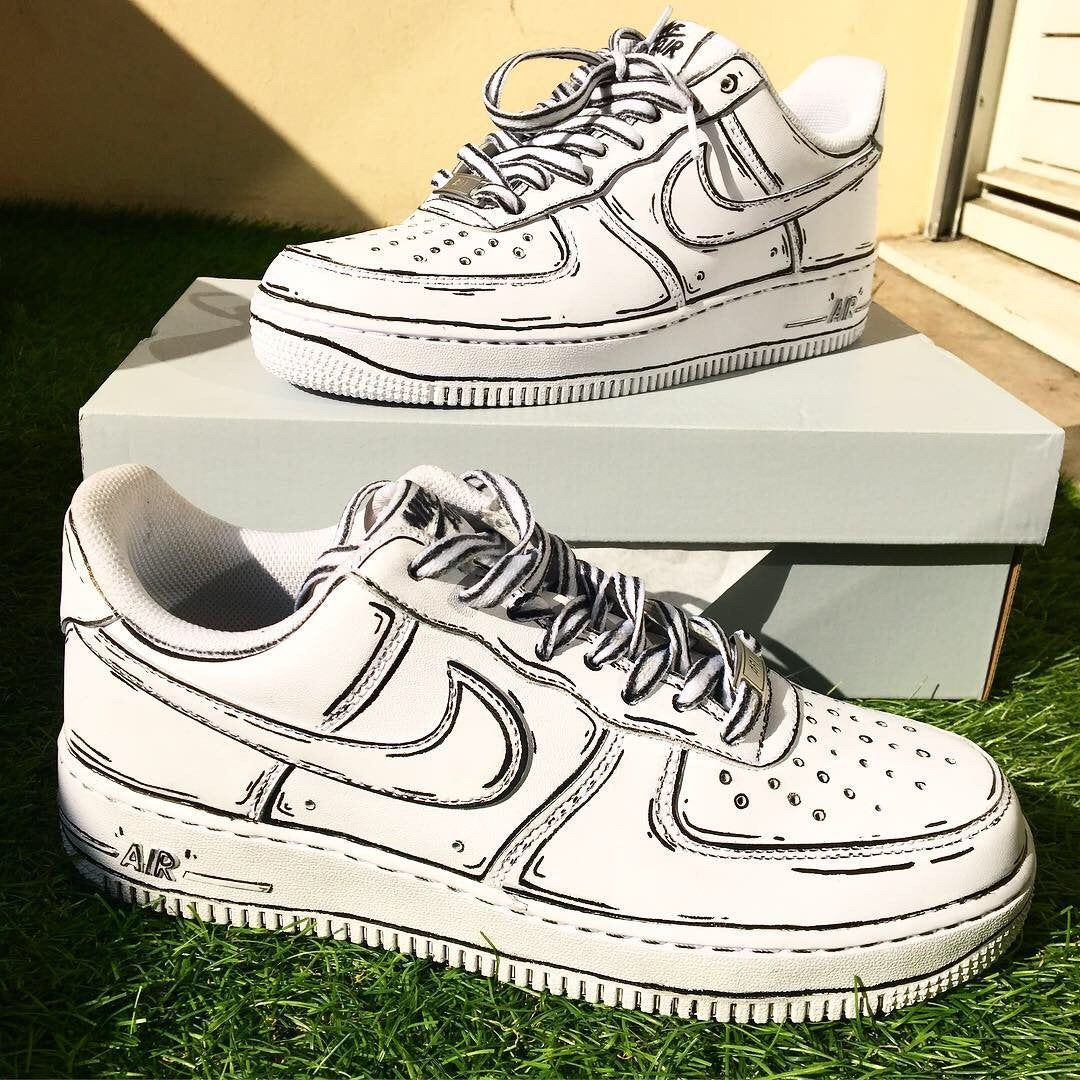 Custom Nike Air Force 1 cartoon Custom nike shoes, Nike