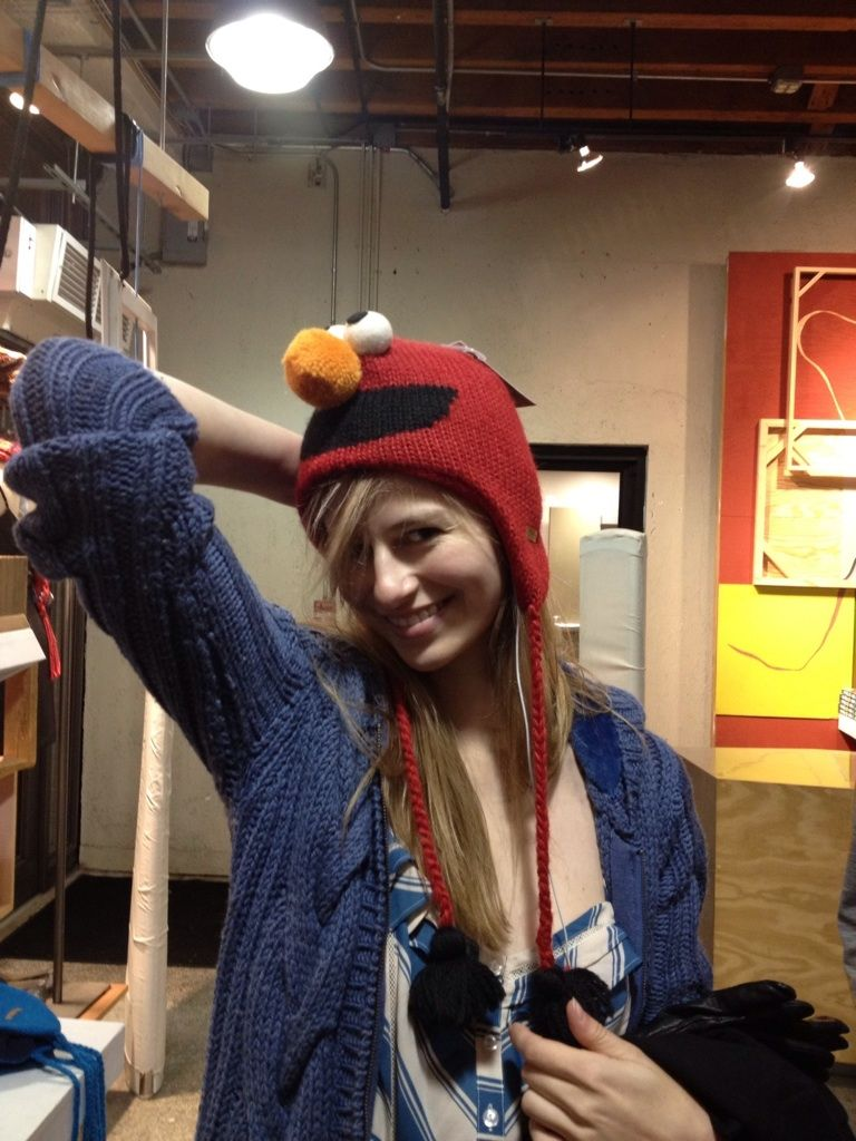 Cute Elmo hat from Urban Outfitters!