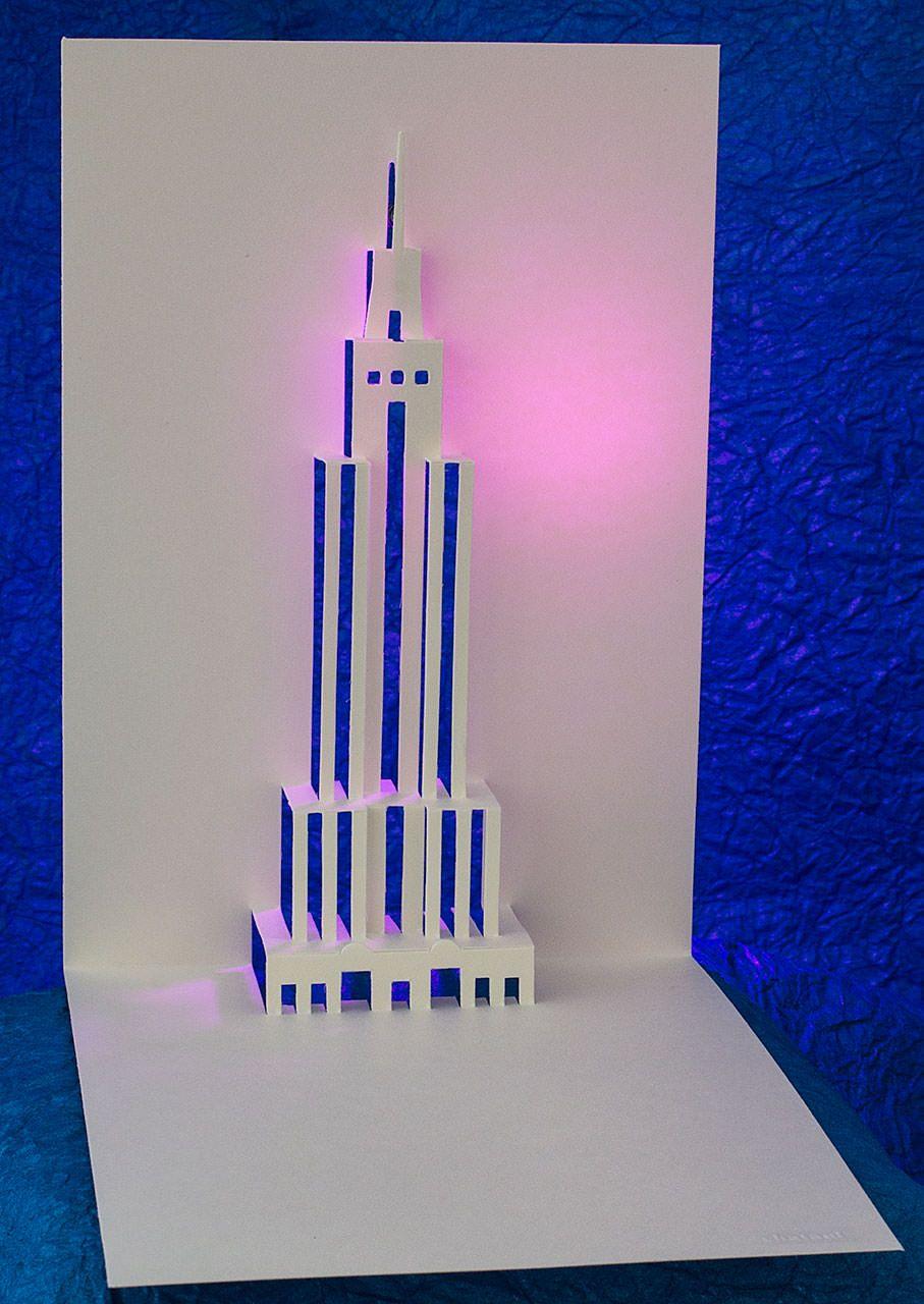 Empire State Building Pop Up Card Popup Card Shop Paper City Textured Paper Art Paper Sculpture