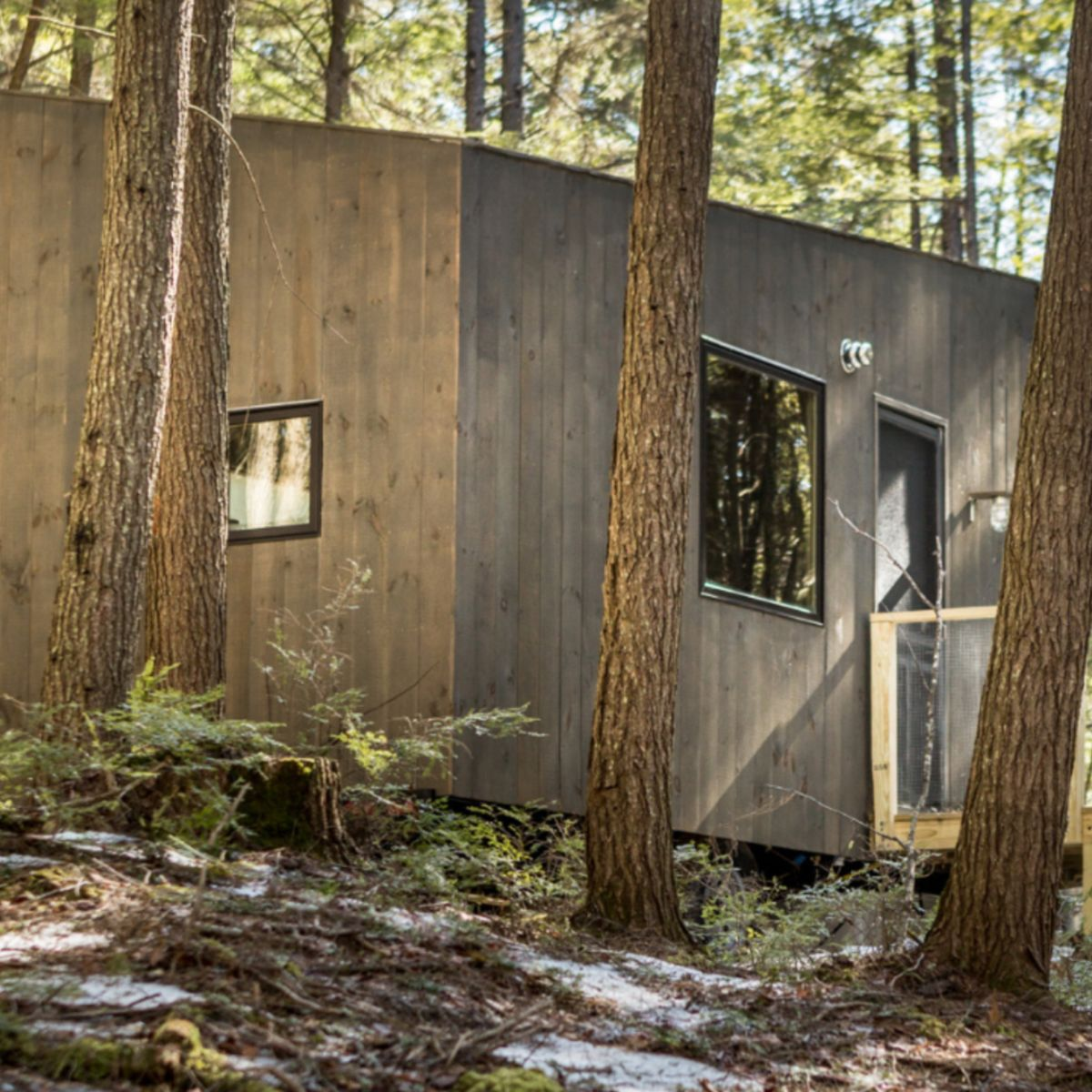 Pleasant Custom Built Minimalist Tiny House In New Hampshire Tiny Home Interior And Landscaping Oversignezvosmurscom