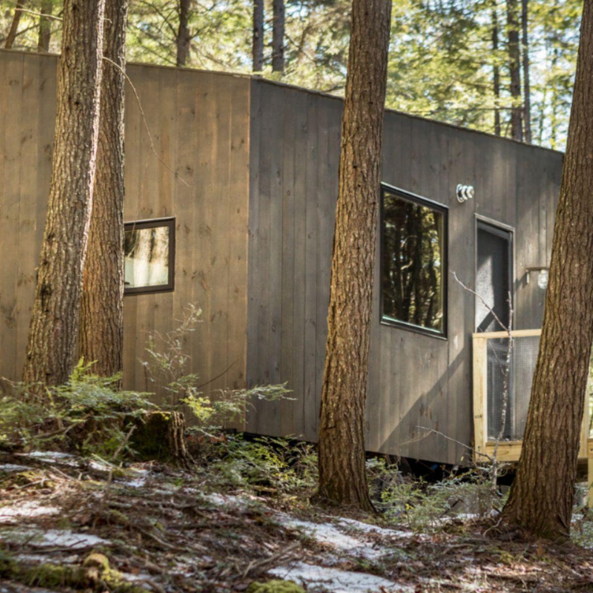 Phenomenal Custom Built Minimalist Tiny House In New Hampshire Tiny Download Free Architecture Designs Ferenbritishbridgeorg