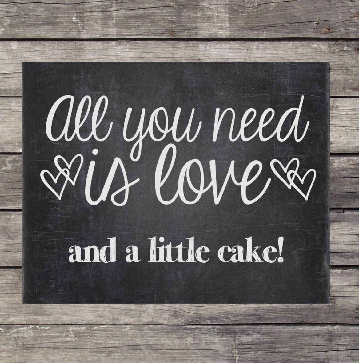 Chalkboard Wedding Sign Instant Download by