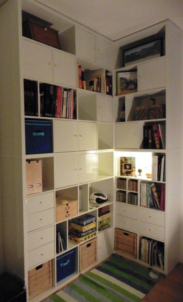 Une Bibliotheque D Angle Sur Mesure Avec Kallax Bibliotheque Angle Kallax Ikea