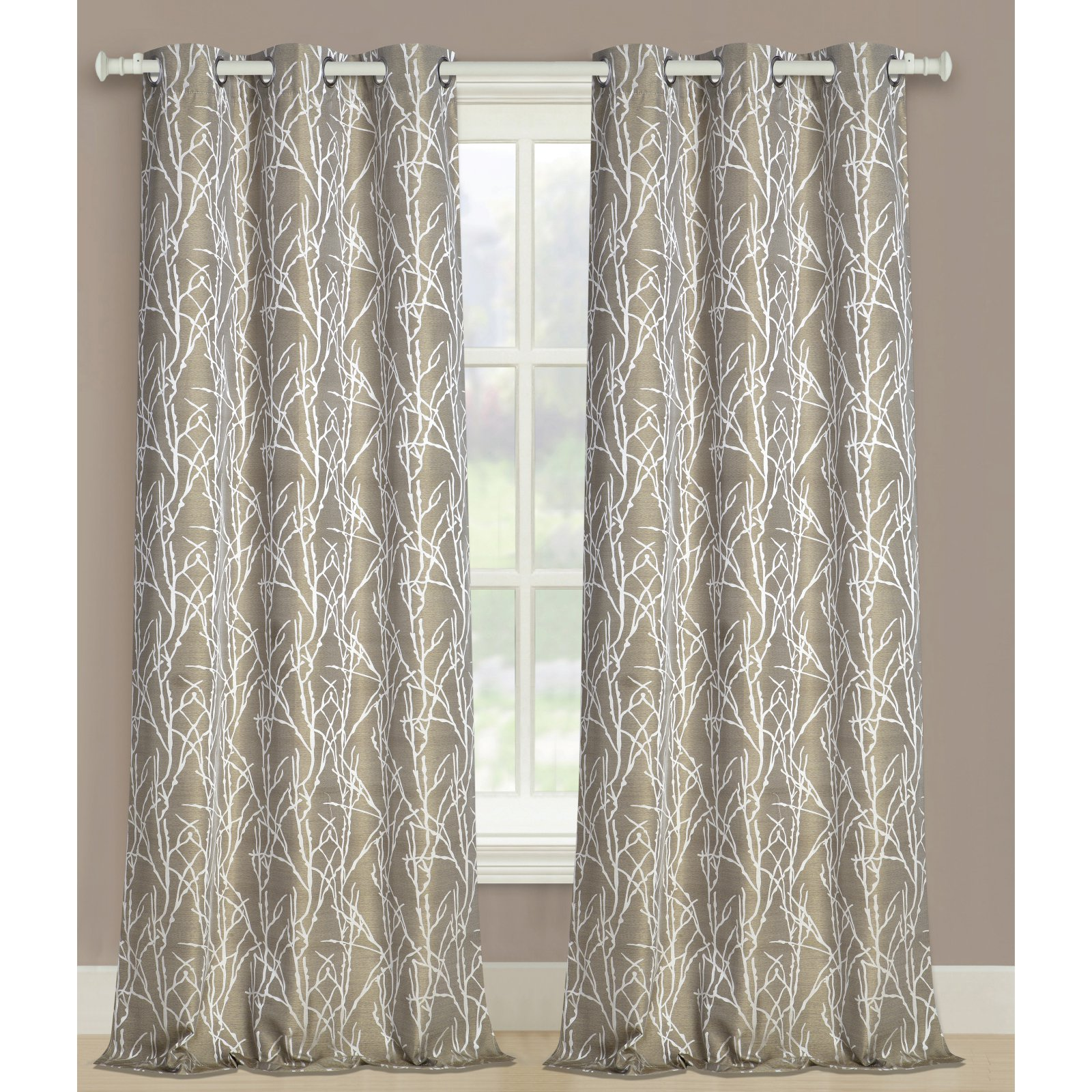 United Curtain Taylor Woven Panel Pairs Curtains Panel Curtains