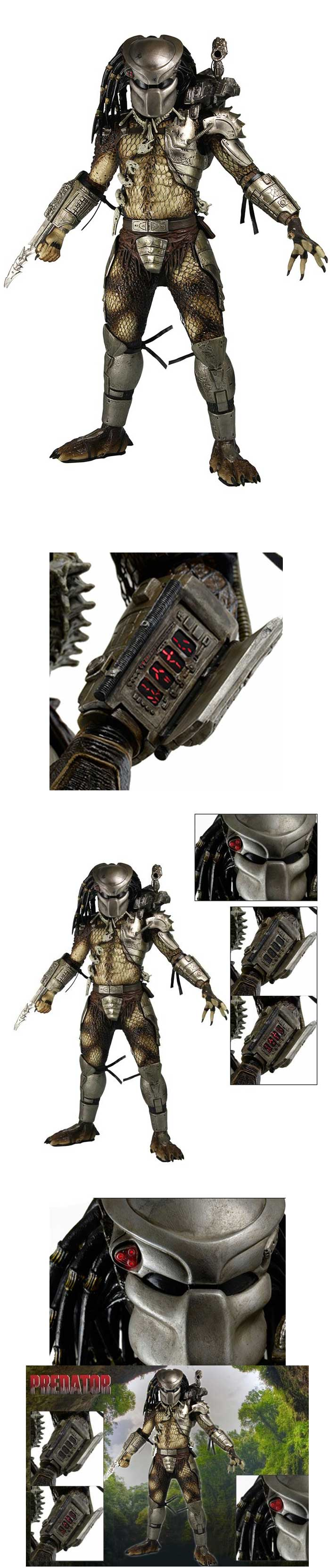 [Neca - Predator: 1/4th scale Jungle Hunter Predator with LED Lights]