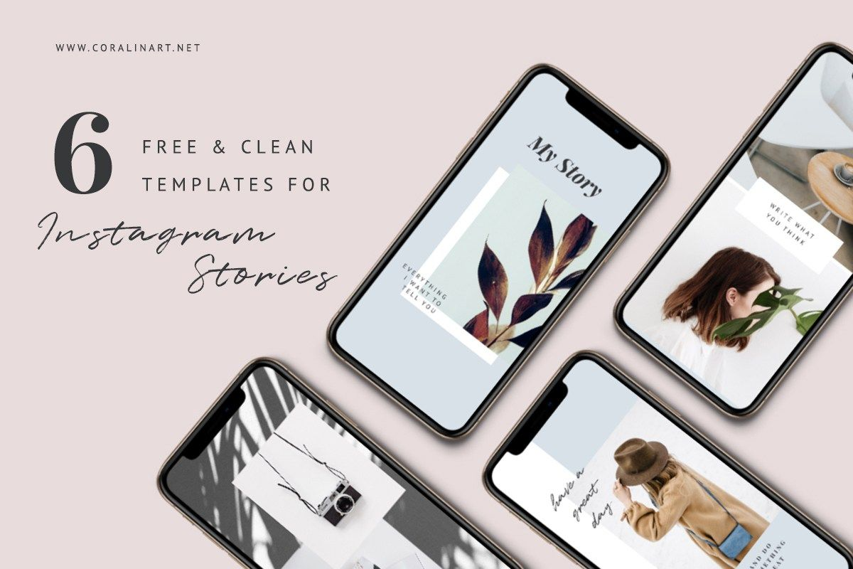 6 Free Clean Insta Story Templates Free Design Resources Templates Free Design Story Template Insta Story