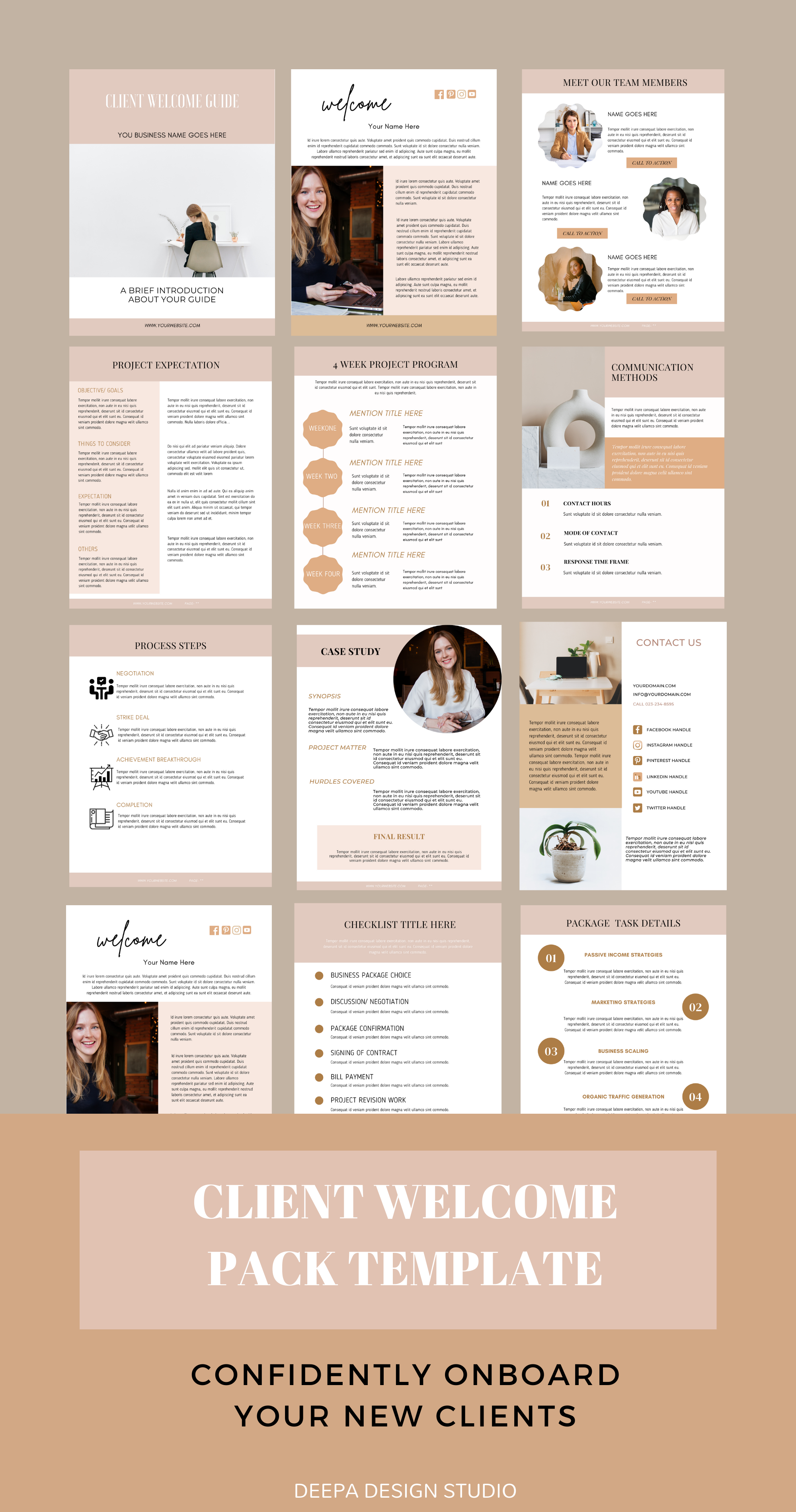 Client Welcome Pack Template Canva Business Proposal Template Virtual Assistant Service Guide Onboarding Template Welcome Guide In 2021 Client Welcome Pack Business Proposal Pricing Guides Templates