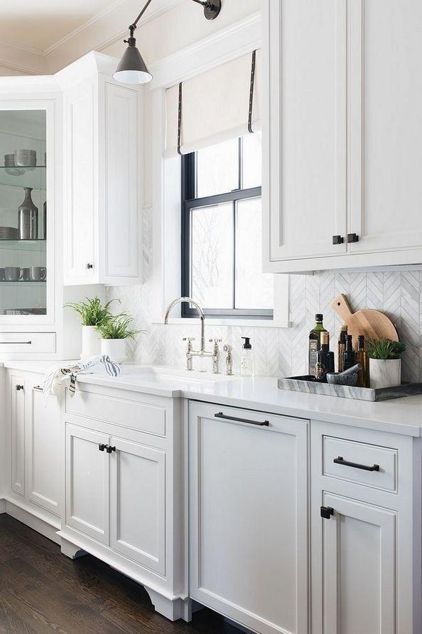 33 Best Kitchen Ideas Tile Designs 16 Justaddblog Com Backsplash For White Cabinets New Kitchen Cabinets Black Cabinet Hardware