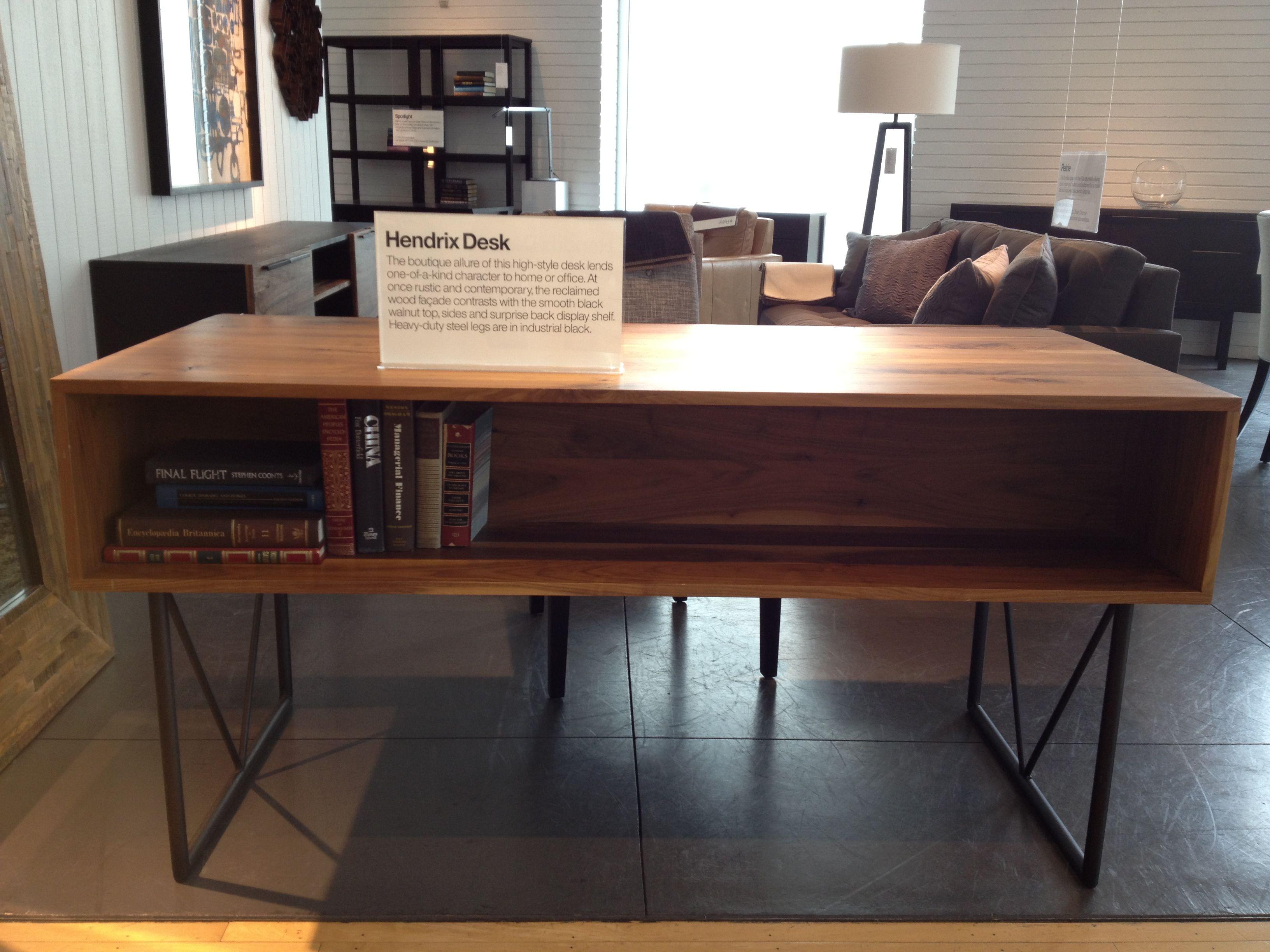 Hendrix Desk Crate Barrel Desk Office Desk Home