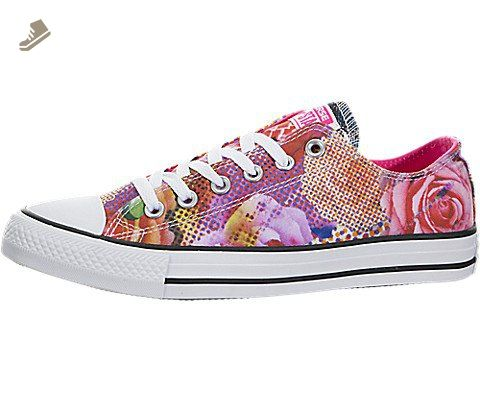 Converse Women's Chuck Taylor All Star Digital Floral Ox Basketball Shoe  Signature Chuck Taylor All Star rubber toe box, textured toe bumper, ...