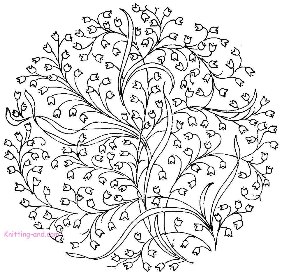 Detailed embroidered circle with flower design stitches