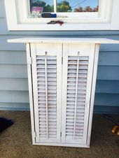 Photo of Table made from shutters repurposing! #Repurposing #Shutters #Table #Repurposing…