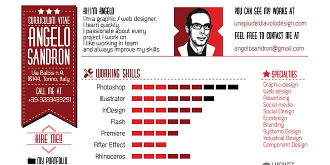 Examples Of Creative Graphic Design Resumes Infographics