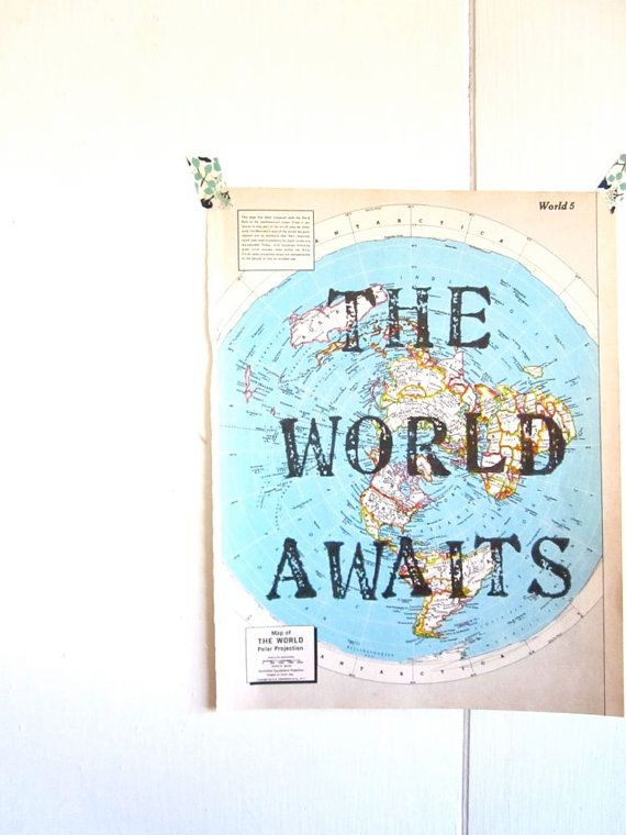 The world awaits vintage map unique print handmade created one the world awaits vintage map unique print handmade created one at a time explore quotestravel gumiabroncs Images