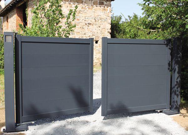 Portaleco u2013 Portail coulissant sans seuil béton ni pilier Idées - portail de maison en fer