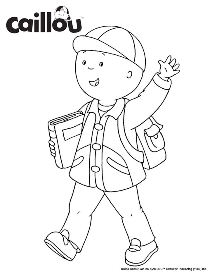 Ready to Learn – Caillou Coloring Sheet 3 | Francais | Pinterest ...