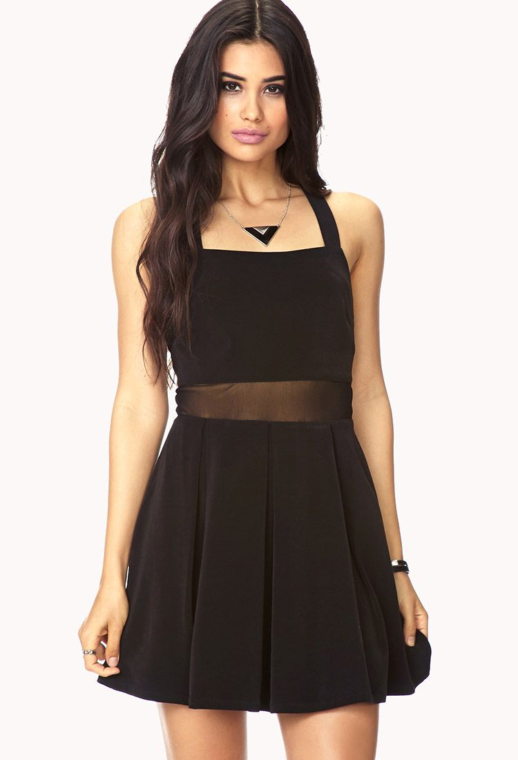 Forever 21 gray and black dress
