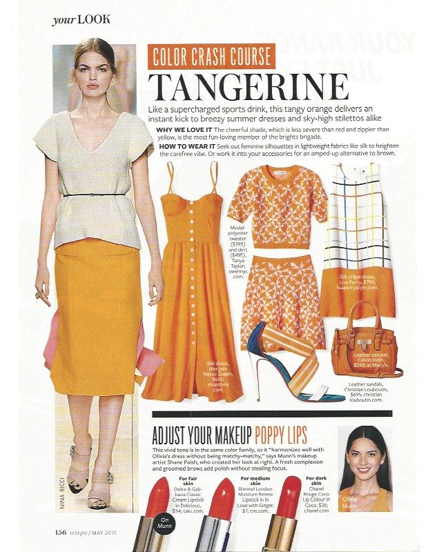 Color Crash Course: Tangerine #instyle
