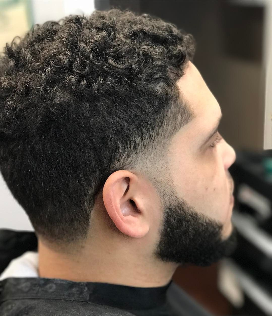 themensloft temple fade with curly hairstyles for men 2017 faded