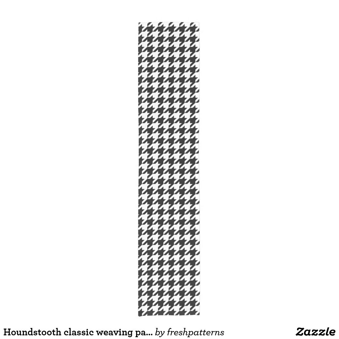 Houndstooth classic weaving pattern short table runner
