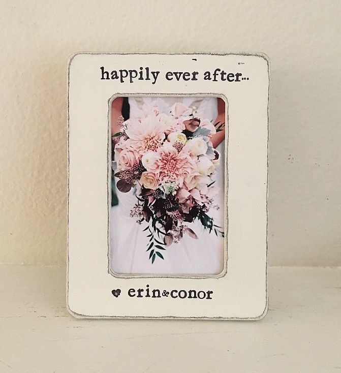 bridal shower themes without gifts%0A Wedding picture frame GIFT  gift for husband  gift for wife  bridal shower  decor