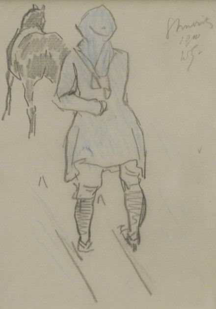Jan Willem 'Willy' Sluiter (Amersfoort 1873-1949 Den Haag) Ski joering, St. Moritz 1910 - Kunsthandel Simonis en Buunk, Ede (Nederland).