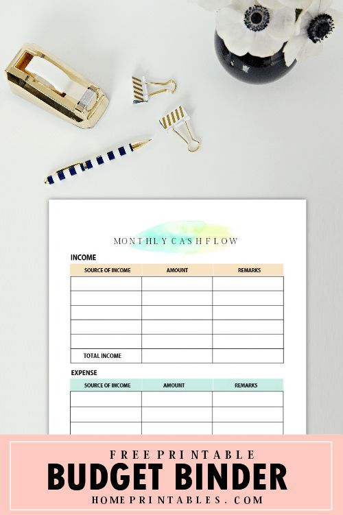Free Printable Budget Binder  Brilliant Money Worksheets