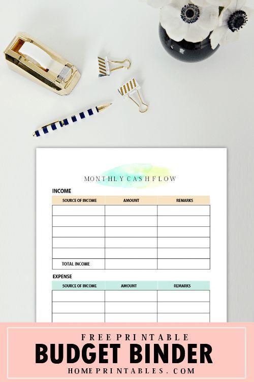 Free Printable Budget Binder  Brilliant Money Worksheets