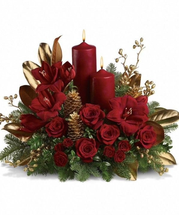 Coffee Table Christmas Candle Decorating Ideas Attractive Christmas Centerpiece Composizioni Floreali Di Natale Composizioni Floreali Centritavola Di Natale