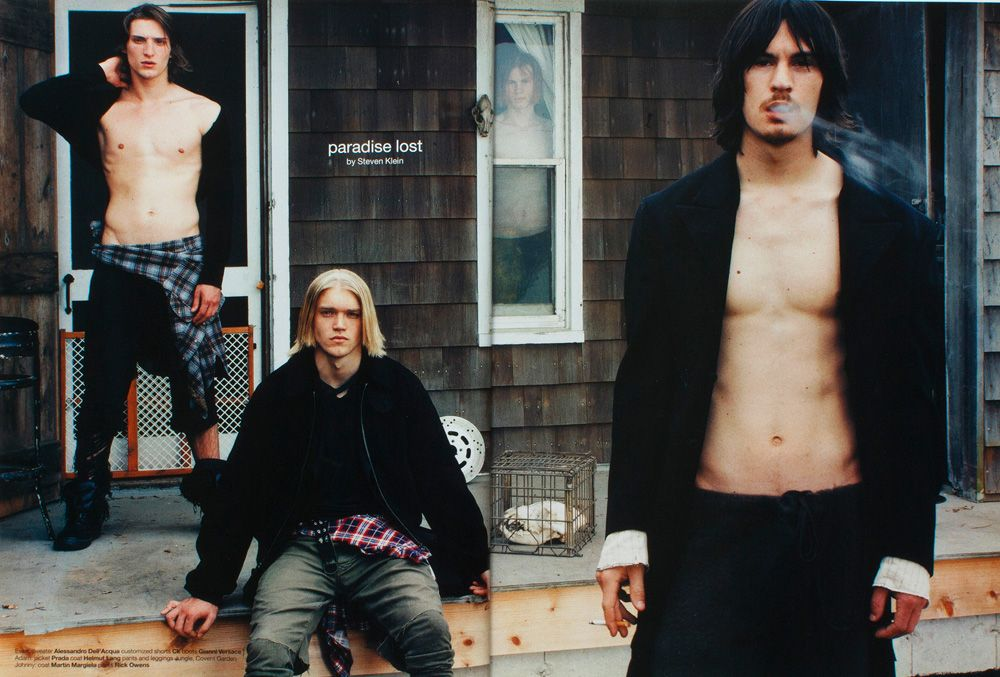 Lost Paradise | Dutch Magazine #40 June/July 2002 | Adam Durocher Cullen Barber Evan Kidd Tiago Gass Johnny @ Grey and Ryan @ Ford Teen by Steven Klein #styled247
