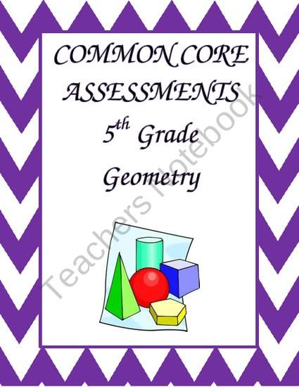 2 Formative or Summative Assessments for each of the Common Core Geometry Standards for 5th grade, 5.G.A.1-2 and 5.G.B.3 Each assessment requires students to either solve or analyze each standard and have a place to show their work and explain their thinking.