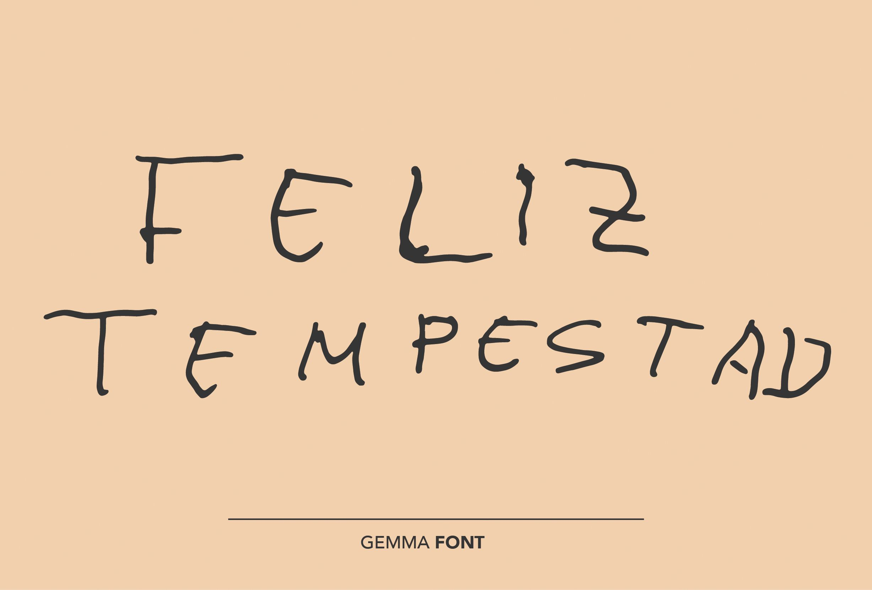 Feliz Tempestad Gemma Font by Homelessfonts.org