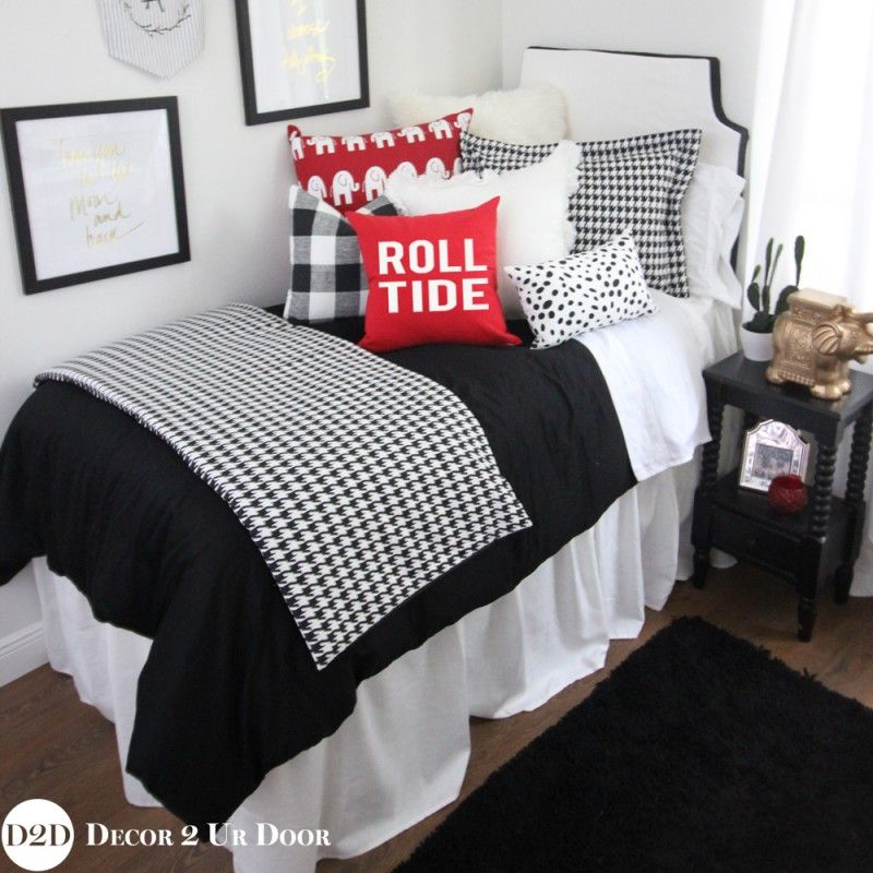 Houndstooth bedding perfect for college dorm room bedding and decor ...