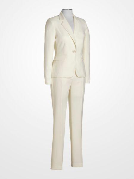John Meyer Ivory Textured Pantsuit 49 99 Winter White Womens