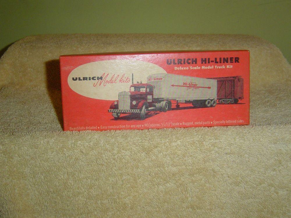 Vintage Ulrich Ho 1 87 Scale Kenworth Tractor Trailer Truck